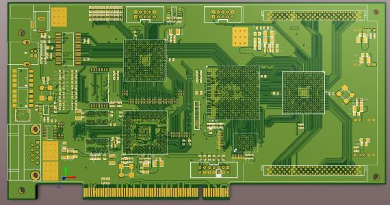 6 Layers 2.4mm And Gold Finger PCB Reverse Board